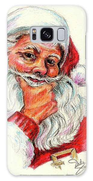 Santa Checking Twice Christmas Image Galaxy Case