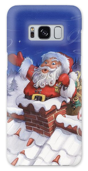 Santa Chimney Galaxy Case