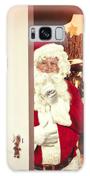 Dress Form Galaxy Case - Santa Claus At Open Christmas Door by Amanda Elwell