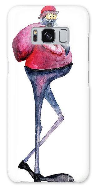 Santa Claus, Watercolor Illustration Galaxy Case