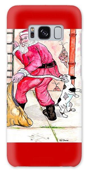 Santa Climbs The Ladder Galaxy Case