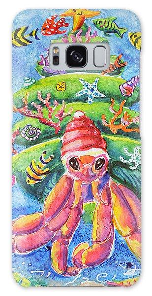 Santa Crab Galaxy Case by Li Newton