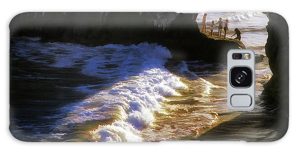 Santa Cruz 'bridge' California Coastline Galaxy Case