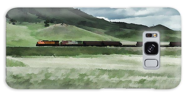 Santa Fe Train Galaxy Case by Erica Hanel