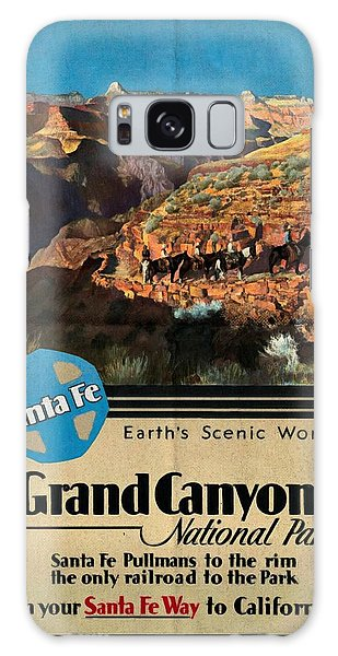 Santa Fe Train To Grand Canyon - Vintage Poster Folded Galaxy Case