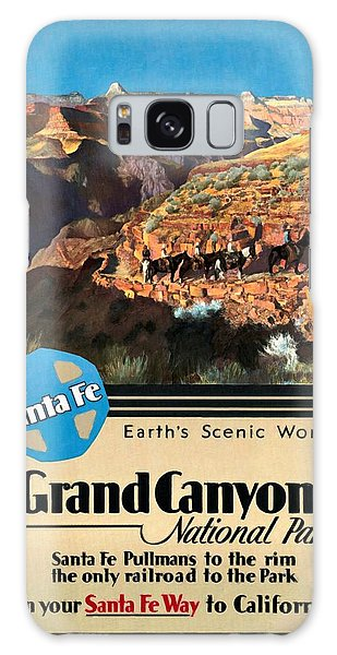 Santa Fe Train To Grand Canyon - Vintage Poster Restored Galaxy Case
