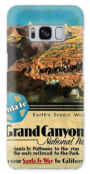 Santa Fe Train To Grand Canyon - Vintage Poster Vintagelized Galaxy Case