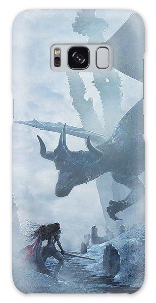 Dragon Galaxy S8 Case - Santa Georgina Vs The Dragon by Guillem H Pongiluppi