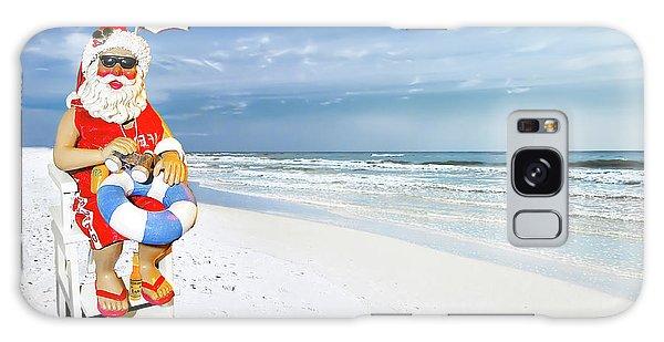 Santa Lifeguard Galaxy Case