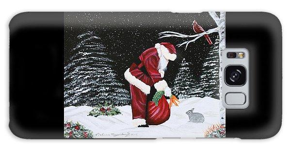 Santa Loves All Creatures Galaxy Case