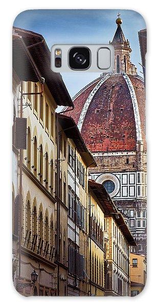 Santa Maria Del Fiore From Via Dei Servi Street In Florence, Italy Galaxy Case