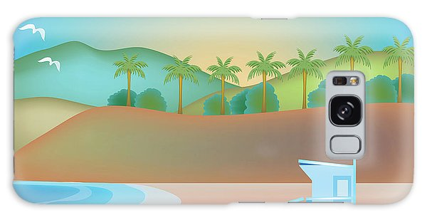 Santa Monica California Horizontal Scene Galaxy Case by Karen Young