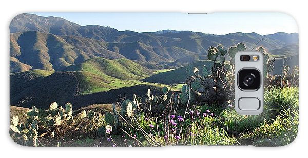 Galaxy Case featuring the photograph Santa Monica Mountains - Cactus Hillside View by Matt Harang