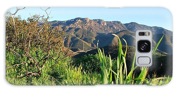 Galaxy Case featuring the photograph Santa Monica Mountains Green Landscape by Matt Harang