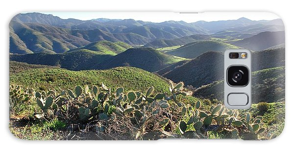 Galaxy Case featuring the photograph Santa Monica Mountains - Hills And Cactus by Matt Harang