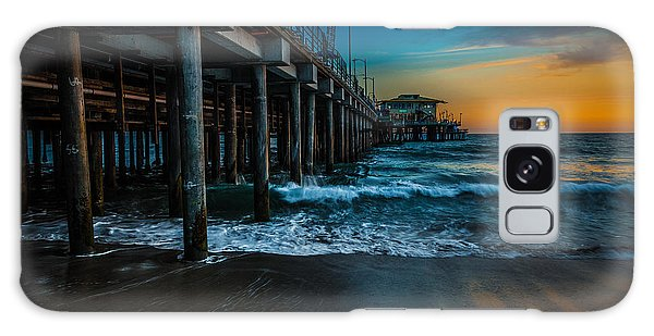 Santa Monica Pier At Sunset Galaxy Case