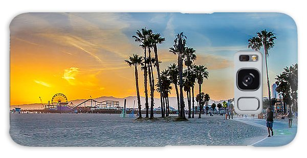 Beautiful Galaxy Case - Santa Monica Sunset by Az Jackson