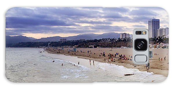 Santa Monica Sunset Panorama Galaxy Case