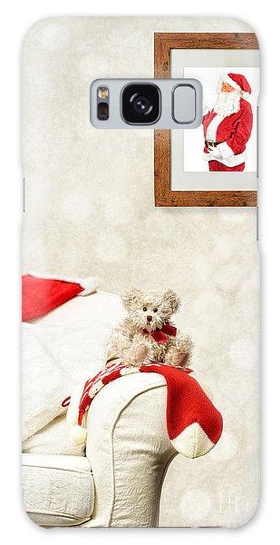 Santa Claus Galaxy Case - Santa Watching Teddy by Amanda Elwell