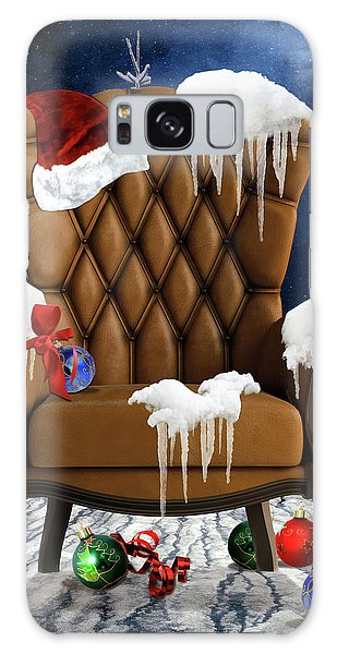 Santa's Chair Galaxy Case by Mihaela Pater
