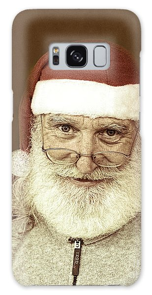 Santa's Day Off Galaxy Case by Linda Phelps