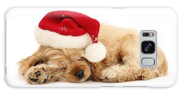 Santa's Sleepy Spaniel Galaxy Case
