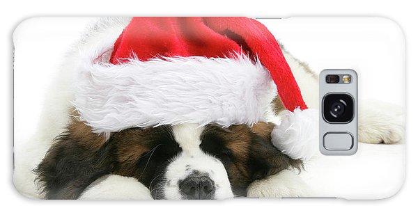Santa's Snoozing Saint Bernard Galaxy Case