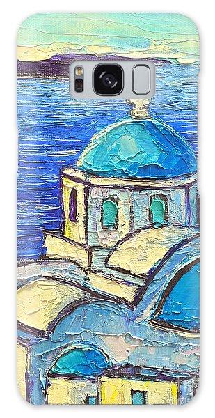 Santorini  Blue Galaxy Case