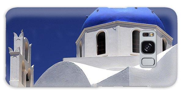 Santorini Greece Architectual Line 2 Galaxy Case by Bob Christopher