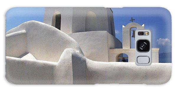 Santorini Greece Architectual Line 4 Galaxy Case by Bob Christopher
