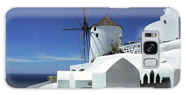 Santorini Greece Architectual Line 5 Galaxy Case by Bob Christopher