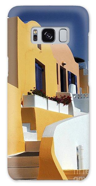 Santorini Greece Architectual Line Galaxy Case by Bob Christopher