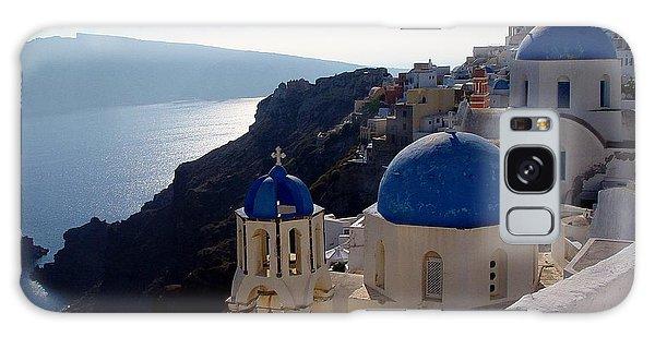 Santorini Greece Galaxy Case by Nancy Bradley