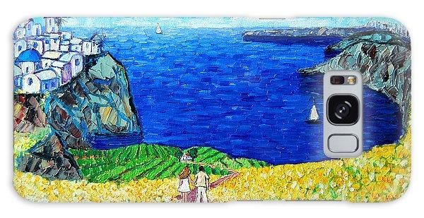 Santorini Honeymoon Galaxy Case
