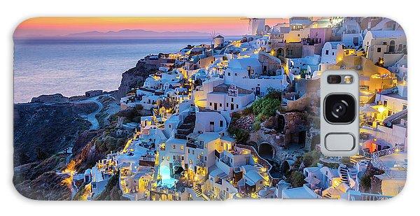 Place Galaxy Case - Santorini Sunset by Inge Johnsson