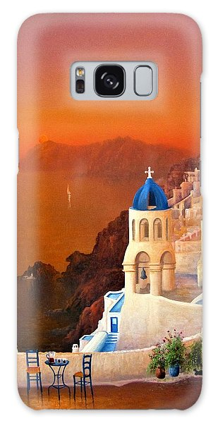 Santorini Sunset Galaxy Case