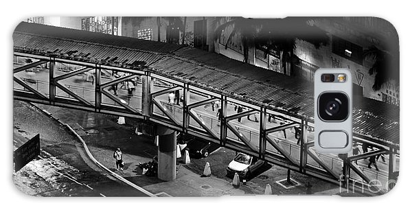 Sao Paulo - Metallic Footbridge At Night Galaxy Case