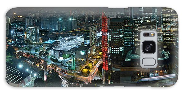 Sao Paulo Skyline Modern Corporate Districts Brooklin Morumbi Chacara Santo Antonio Galaxy Case