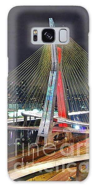 Sao Paulo Skyline - Ponte Estaiada Octavio Frias De Oliveira Wit Galaxy Case