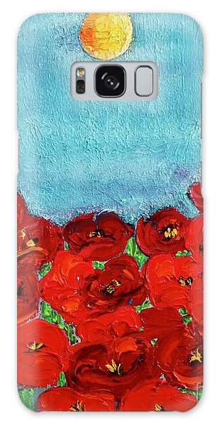 Sarah's Poppies Galaxy Case