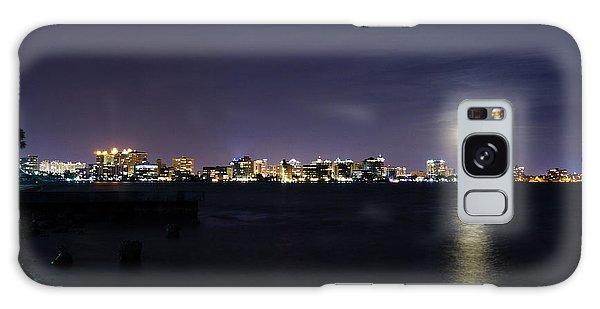 Sarasota Cityscape-night-full Moon 2 Galaxy Case