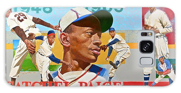Satchel Paige Galaxy Case by Cliff Spohn