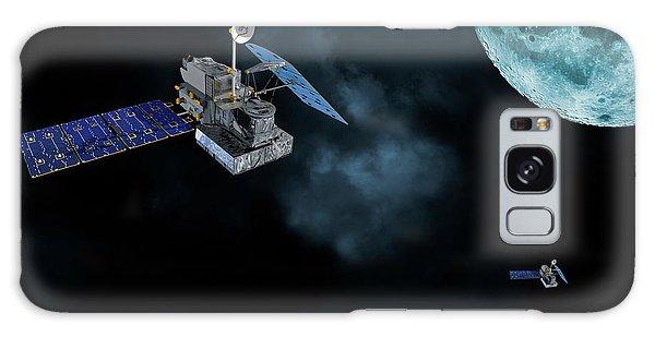 Satellites In Orbit Around The Moon Galaxy Case by Christian Lagereek