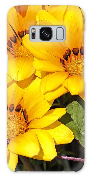Satin Yellow Florals Galaxy Case by E Faithe Lester