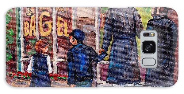 Satmar Rabbis Summer Stroll St Viateur Street Scene Canadian Artist C Spandau Jewish Neighborhoods   Galaxy Case