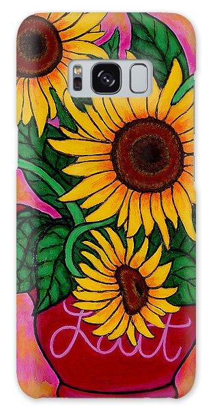 Saturday Morning Sunflowers Galaxy Case