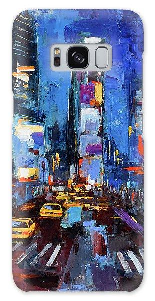 Saturday Night In Times Square Galaxy Case