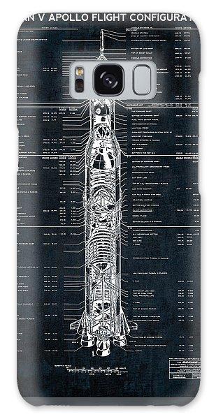 Saturn V Apollo Moon Mission Rocket Blueprint  1967 Galaxy Case