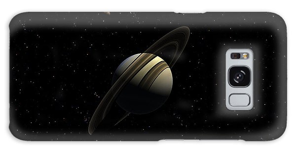Saturn With Titan Galaxy Case