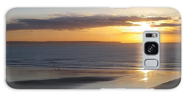 Saunton Sands Sunset Galaxy Case